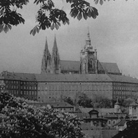 Praha hradčany/Прага Градчаны фото 40-е года.
