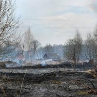 Пожары близ деревни