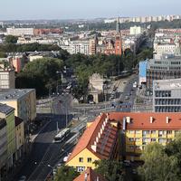 Вид на город и Берлинские ворота