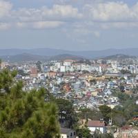 Вид на город Далат со смотровой площадки