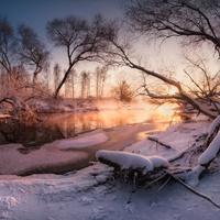"""Река """"Сейм под Солнцевским садом"""", февраль 2018 г."""