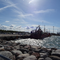 Рохукюла, в порту