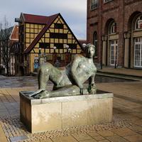 Скульптура на улице Ростока