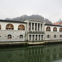 Торговые ряды вдоль Любляницы