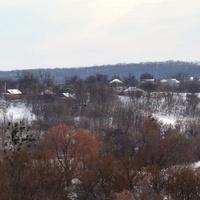Вид на сільський куток Масликівка збоку Ярового.