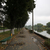 Набережная реки Пина