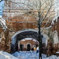 Церковь Димитрия Солунского в урочище Замедянцы Слободского района Кировской области. Интерьер