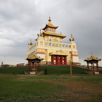 """Храм """"Золотая обитель Будды Шакьямуни"""" в Элисте"""