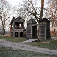 Деревянные сооружения на территории Инстербургского замка