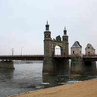 Пограничный  мост через реку Неман