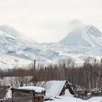 Вид на поселок и гору