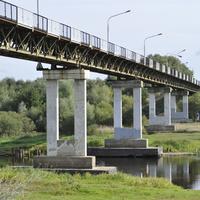 Пешеходный мост через реку Березину