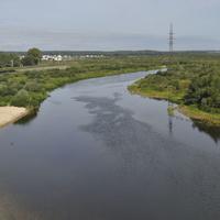 Видл с моста на реку Березину