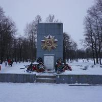 Памятник защитникам Ленинграда.