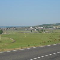 Вид с трассы на село