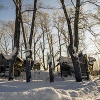 Развалины Георгиевской церкви в с. Прозорово Советского района Кировской области