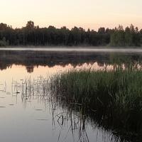 Белые ночи. Озеро Опаринское, Новгородская область.
