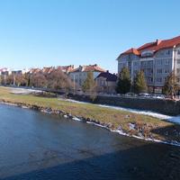 Набережная местной реки - Латорица