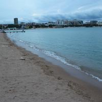 Центральный пляж вечером.