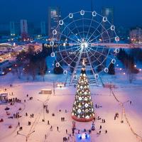 Площадь торжеств зимой