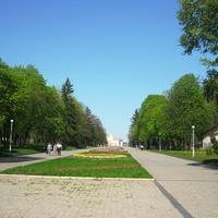 Вид на Катерининскую церковь