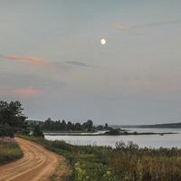Озеро в поселке Пено