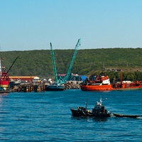 Порт города Курильск