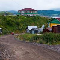 Дорога ведущая от порта в посёлок