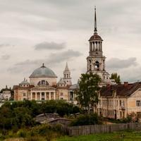 Вид на Борисоглебский мужской монастырь