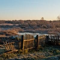 Вид на речку Жабня со стороны деревни