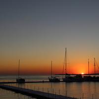Закат в Геленджикской бухте.