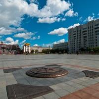 Центральная площадь Хабаровска, нулевой километр