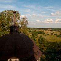 Вид с деревянной колокольни в деревни Скирки