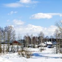 Вид на с. Волково Слободского района Кировской области