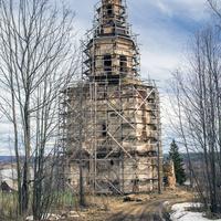 Колокольня церкви Петра и Павла в селе Петропавловск (Ишлык) Советского района Кировской области