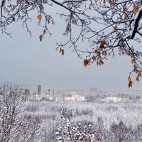 Вид с холма заповедника Коломенское.