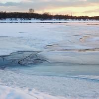 Замерзшая Москва-река