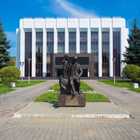 памятник шахтеру фонтан Междуреченск