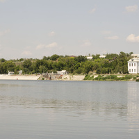 Хутор Верхнекрасный. Вид с реки Северский Донец. 2018г.