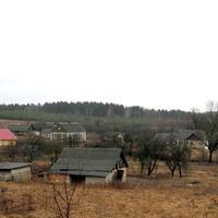 Вид деревни Вишневка с пригорка