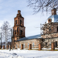 Троицкая церковь в с. Лопьял Уржумского района Кировской области