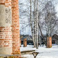 Ограда Троицкой церкви в с. Лопьял Уржумского района Кировской области