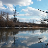 Река Ока.Лужки.