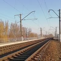 Железнодорожная остановочная площадка (1034 км. СКЖД) для электропоезда.31. 03.2019