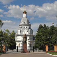 Часовня и памятник А. Котомкину
