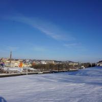 Река Днепр зимой.
