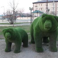 Скульптуры на пр. Кадырова.