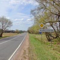 д. Мойсеевичи. Дорога Р-91 на Барановичи.