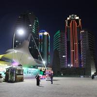 Грозный-Сити ночью.