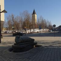 Памятник нерпе в центре Лаппеенранты